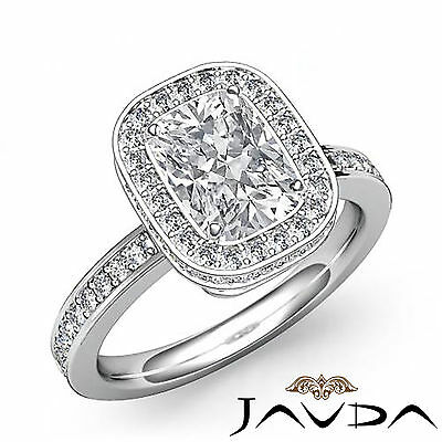 Cushion Diamond Engagement Splendid Ring EGL E VS2 Clarity 14k White Gold 1.84ct