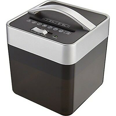 New Insignia 6 Sheet Crosscut Countertop Paper Mail Card Shredder Compact Office