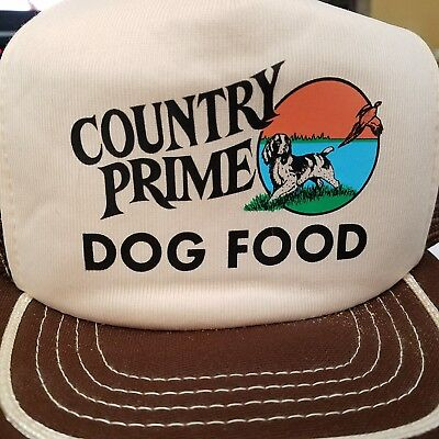 Vintage COUNTRY PRIME Dog Food Mesh Snap Back Trucker Farm Hat Made in the  USA