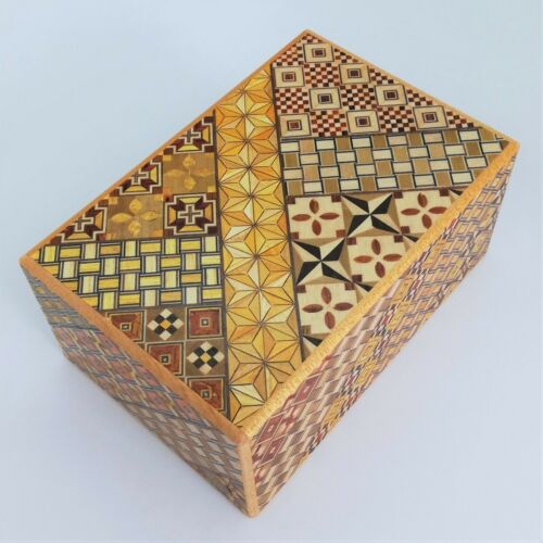 5 sun 12 steps Yosegi Japanese Puzzle Box Hakone Himitsubako Brand New OKA CRAFT