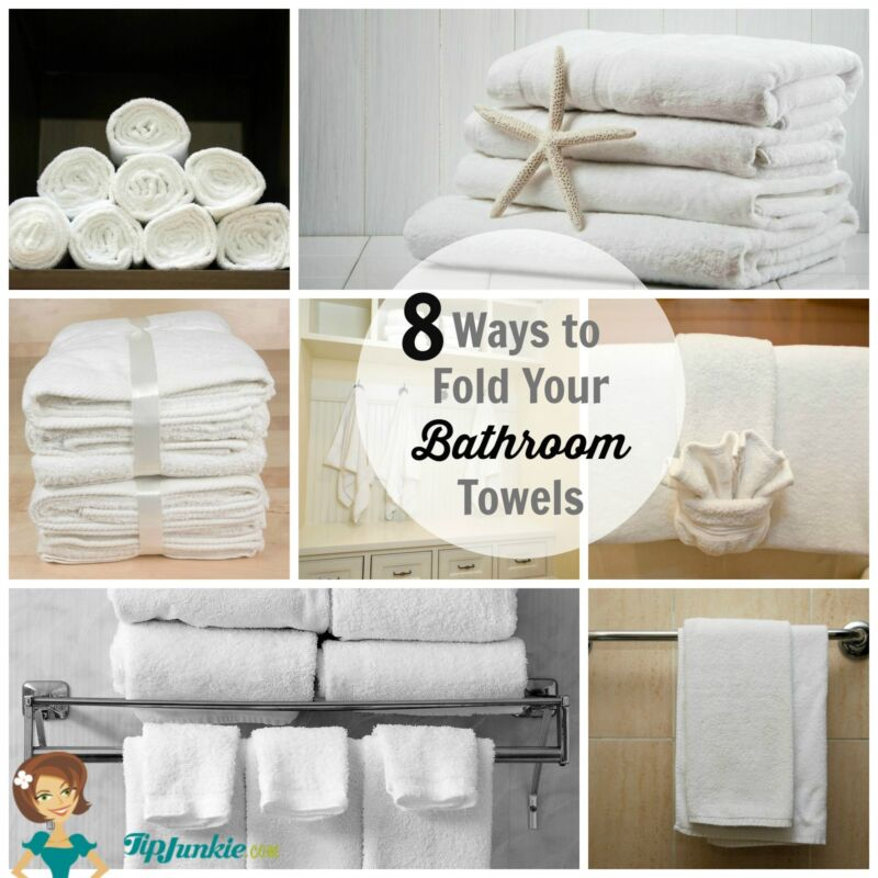 8 ways to fold your bathroom towels ebay - How to display towels in bathroom ...