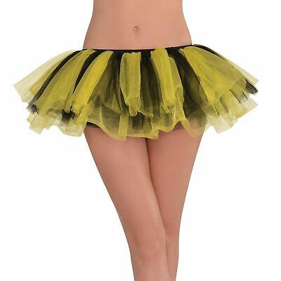 Adults Yellow Black Tutu Skirt Bumble Bee Hen Night Fancy Dress Costume Women's - Bumble Bee Fancy Dress Costume Adults