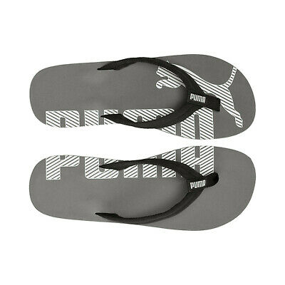 Genuine Puma Epic Flip Flops Mens Black Summer Footwear Beach Pool Bnwt - New