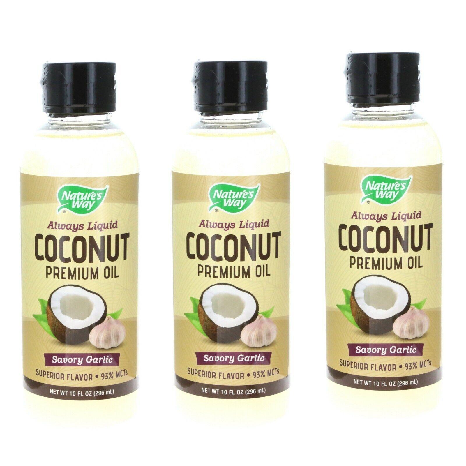 Coconut Premium Oil Savory Garlic Nature's Way 10 fl oz Oil