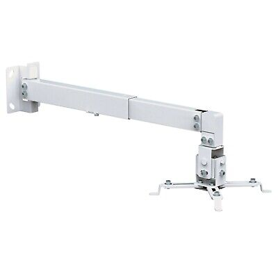 Universal Projector Ceiling or Wall Mount Bracket Tilt DLP LCD - 44 lbs - White