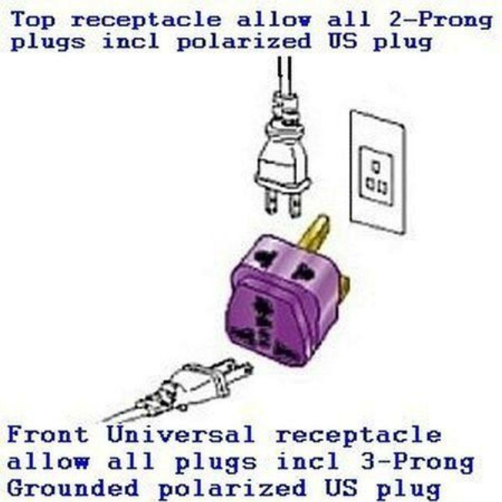 Travel Power Adapter Plug For India Pakistan Grounded Connector Outlet Type D Cad 14 68