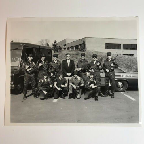 1977 Hamilton Township Police SWAT Tactical Team New Jersey VTG Photograph