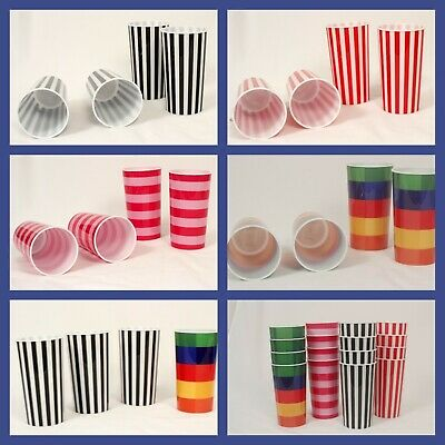Pool Patio Heavy Plastic 16 Ounce Tumbler Cups 5 Styles to Choose Reusable (Plastic Tumbler Cups)