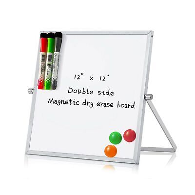 Merlerner 12 X 12 Magnetic Small Dry Erase White Board With Stand Portable ...