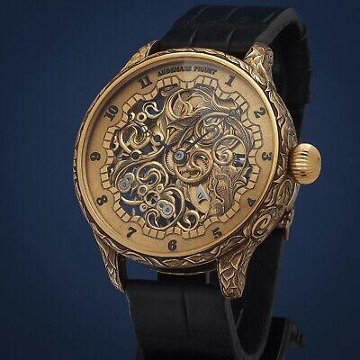 Luxury Skeleton Mens Wrist watch based on Vintage Movement Audemars Piguet