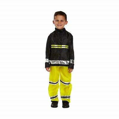 Boys Dressing Up Outfit (Boys Fireman Fancy Dress Costume Dressing Up World Book Day Outfit)