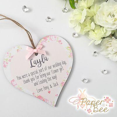 Thankyou Flower Girl Gift Personalised Plaque/Sign Keepsake Present Wedding Poem