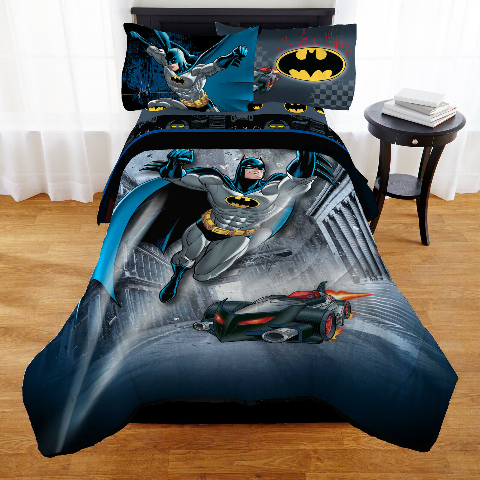 Details About Twin Size Batman Bedding Set Bed In A Bag Bedroom Comforter Sheets Pillowcase