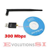 Tarjeta Wifi Con Antena Usb 300 Mbps Adaptador Inalambrico 300m Lan Red 802.11b -  - ebay.es