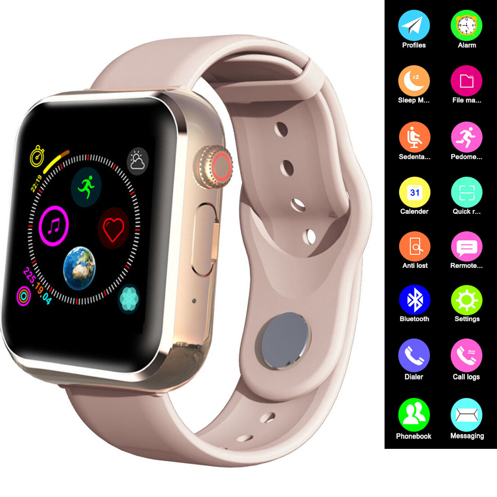 Women Smart Watch Bluetooth Smartwatch Compatible with Huawe