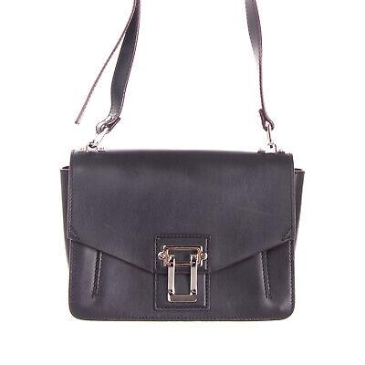 RRP €1500 PROENZA SCHOULER Leather Shoulder Bag Flip Lock HANDCRAFTED in Italy