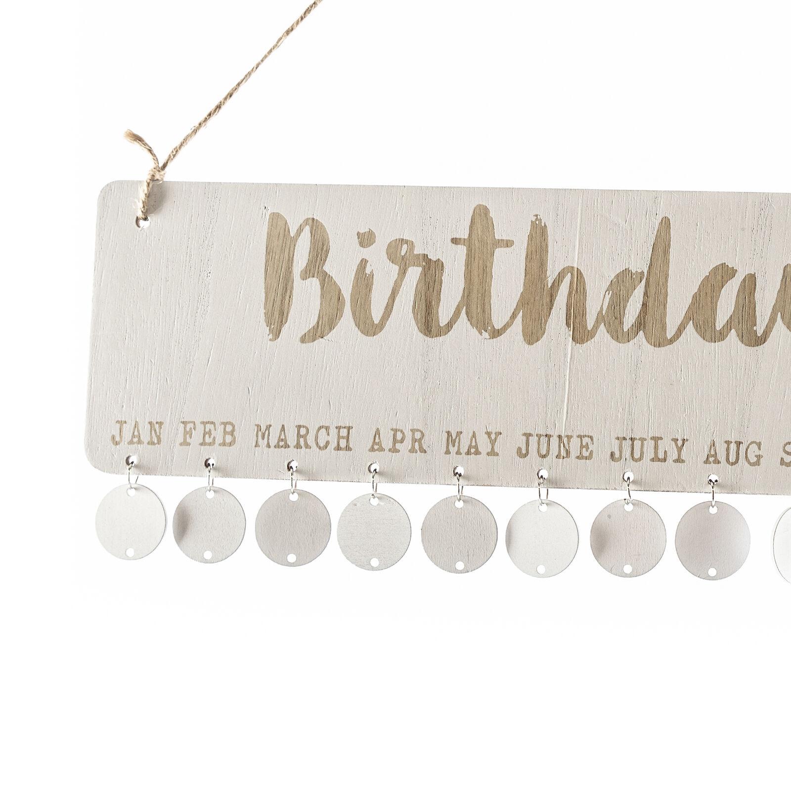 Geburtstagskalender Holz Happy Birthday Kalender 50 Holzpads selbstbeschriften