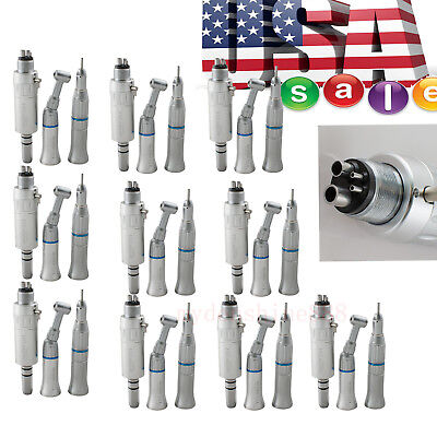 10x Dental Slow Low Speed Handpiece Push 4hole E-type Complete Air Motor Kit Set