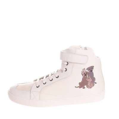 RRP €275 DOLCE & GABBANA Sneakers Size 38 UK 5 US 6 Contrast Leather Patched