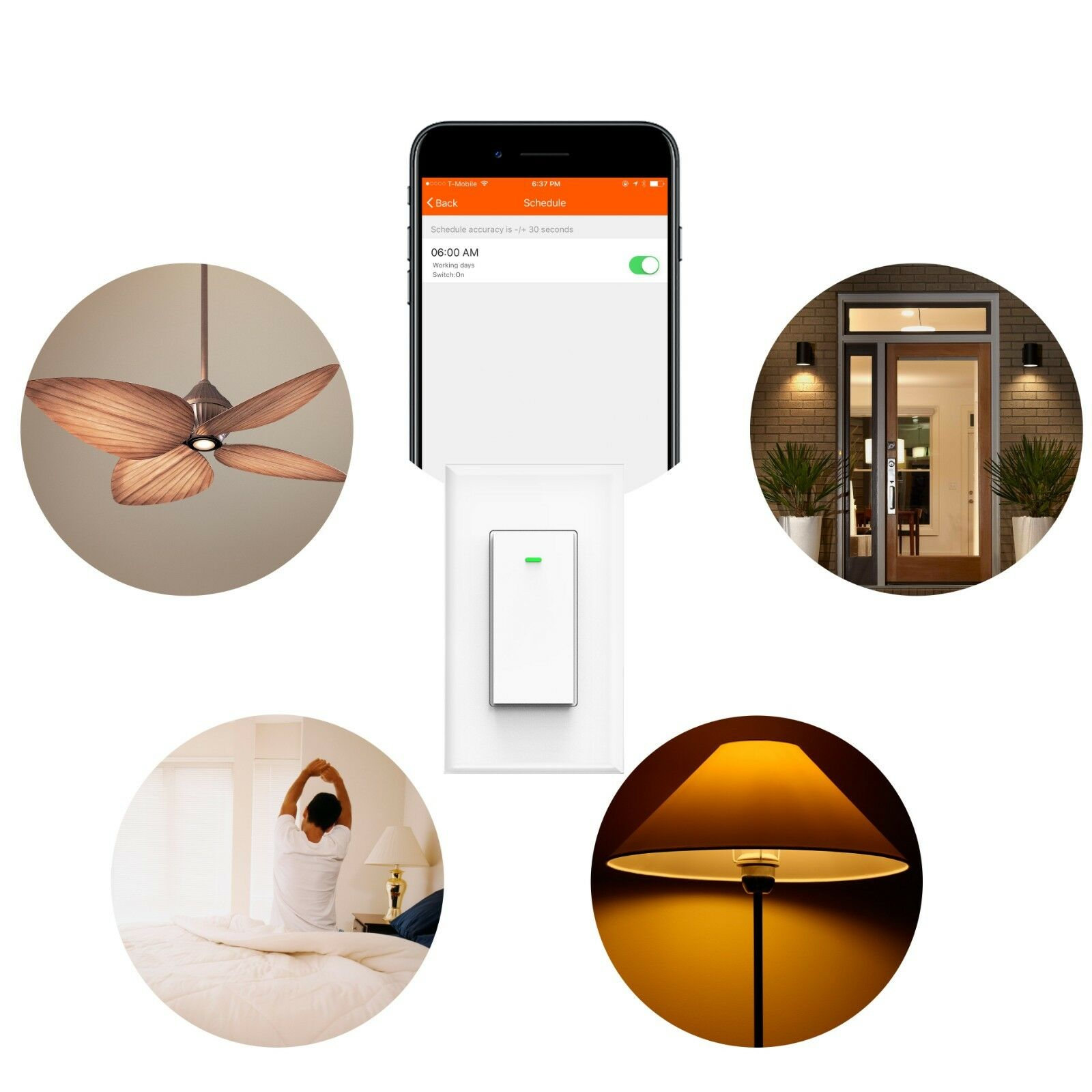 как выглядит Smart WIFI Light Switch Remote Alexa Google Home Voice Control Smart Life 2pack фото