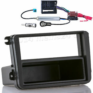 VW GOLF 5 V 6 Touran Passat Radio Blende Einbau Rahmen CAN-Bus Adapter Fakra ISO