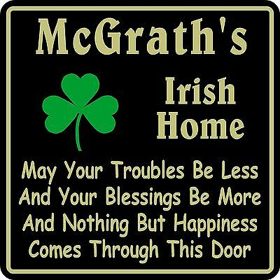 Irish Home Decor (Personalized Irish Pub Bar Beer Home Decor Gift Plaque Sign #10 Custom USA Made )