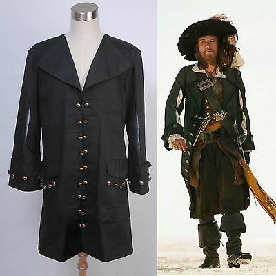 Pirates of the Caribbean Barbossa Jacket Costume Halloween Party Show Cosplay  - Barbossa Halloween Costume