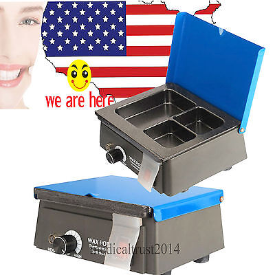 Dental Lab Digital Wax Heater Pot 3-well Analog Melter Dipping Melting Machine