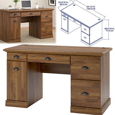 COMPUTER DESK WORK Station With Filing Storage Drawers Writing Home Office Furni ()