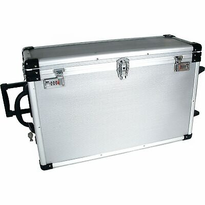 24 Trays Large Aluminum Rolling Jewelry Carrying Case