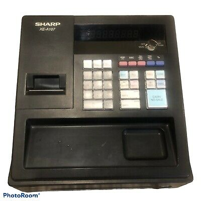 Sharp Xe-a107 Cash Register Untested No Power Cord