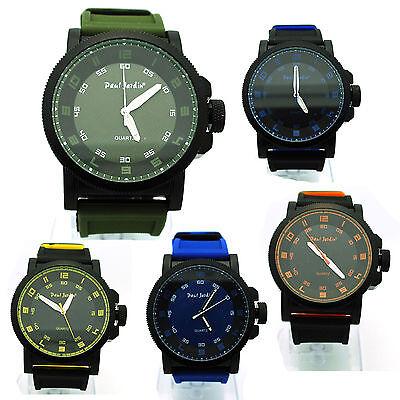 Paul Jardin Mens Sport Round Analog Quartz Plastic Arm Wrist Watch (Paul Jardin Watch Quartz)