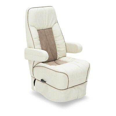 De Leon RV Furniture Captain Chair Manual Motorhome Mobilehome Camper, Two-Tone