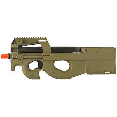 400 FPS P90 LICENSED FULL AUTO ELECTRIC AEG AIRSOFT GUN RIFLE TAN w/ 6mm