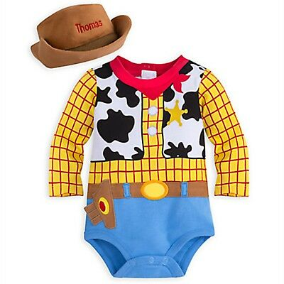 Disney Store Woody Baby Dress Up Costume Halloween Bodysuit Toy Story Pixar NEW