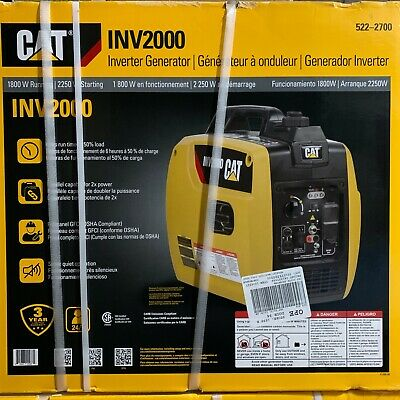 Cat Inv2000 Quiet 1800w Running Gas Portable Inverter Generator 522-2700 New