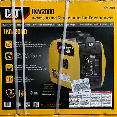 Cat Inv2000 Quiet 1800w Running Gas Portable Inverter Generator 522-2700 New