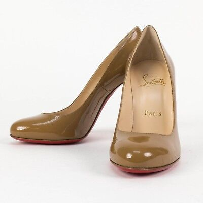 New CHRISTIAN  LOUBOUTIN 'FIFI' Cool Beige Patent Leather Pumps Size 6/36 $695