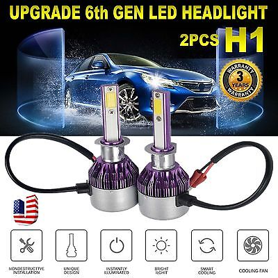 2PCS H1 252W CREE LED Headlight Kit High/Low Beam Bulbs White 6000K High Power