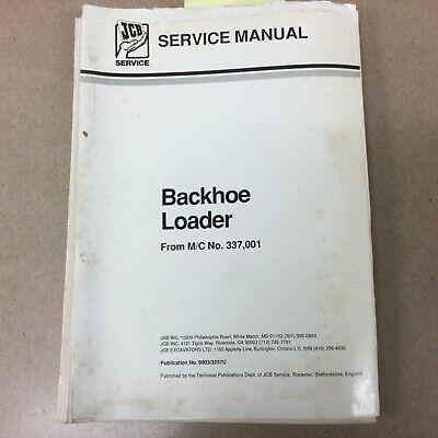 Jcb Excavator Service Shop Manual Tractor Backhoe Loader Guide Book 98033257u