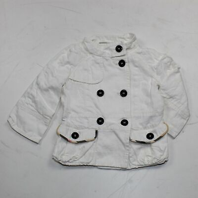 Burberry Baby Girl White Casual Light Jacket Size US 2Y/92cm