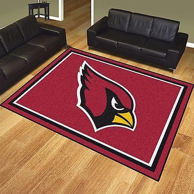 Arizona Cardinals Rug - Arizona Cardinals 8' X 10' Decorative Ultra Plush Carpet Area Rug