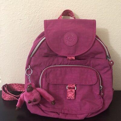 Kipling NWOT SOLDOUT Color Queenie Very Berry Pink Packpack - Retails $99