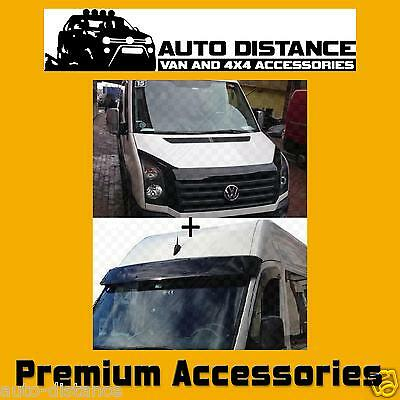 Sun Visor and Bug Guard Solid Black Acrylic For VW Crafter 2012 - 2017