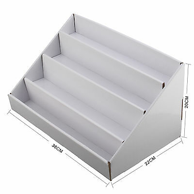 Details About Card Display Stand 2x4 Collapsible Cardboard Greeting Counter Stand Tier Stand