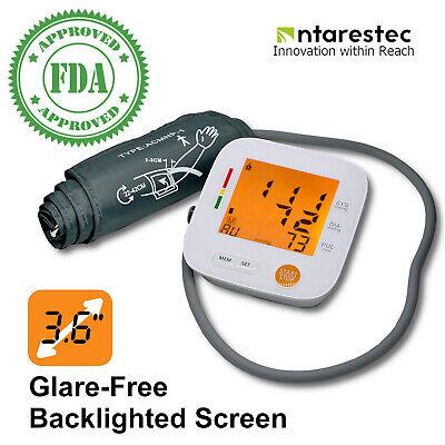 Digital Upper Arm Blood Pressure Monitor Cuff Pulse Heart Rate Sphygmomanometer
