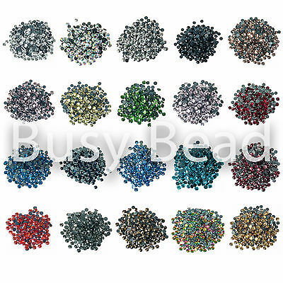 Busy Bead AA Grade Hot Fix Rhinestones Iron On Hotfix Flat Back Rhinestone Gems