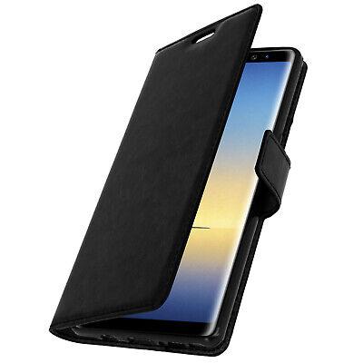 Funda Libro Billetera Vintage para Samsung Galaxy Note 8 - Negro
