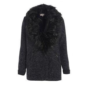 ea42316d56 Black Fur Coat | Womens Faux Fur Coats | eBay