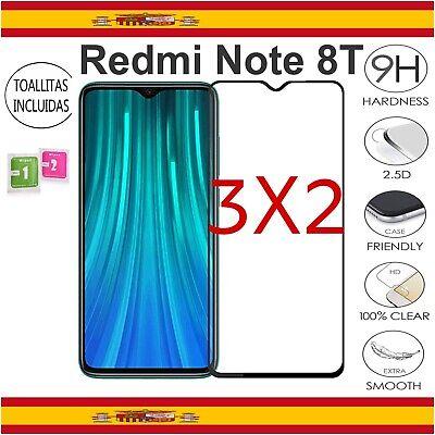 Protector Pantalla Xiaomi Redmi Note 8T Cristal Templado 3D Dureza 9H